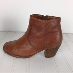 1937 MADEWELL cognac Winston ankle boot size 8.5